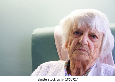 93 year old senior citizen angry look