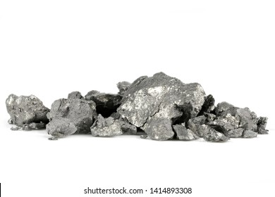99.9% fine holmium isolated on white background