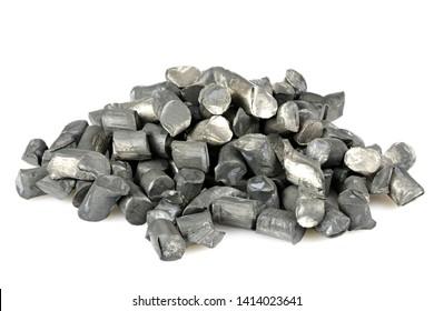 99.9% fine lithium isolated on white background