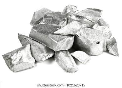 99.99% fine aluminum isolated on white background