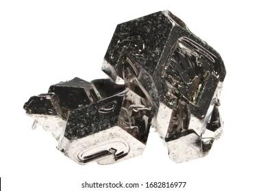 99.9999 fine palladium crystal isolated on white background