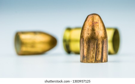 9mm ammunition in close-up