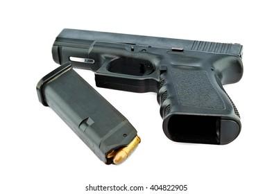 9-mm handgun and target shooting (gun target firearms shoot sights violence)