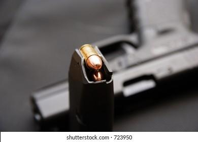 9mm pistol  & bullets