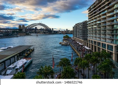 9th Sep 2016, Sydney; the scenery at the Circular Quay with Harbour Bridge at the background during daytime.
