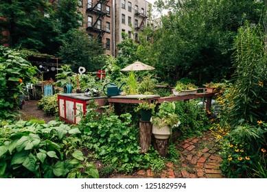 9th Street Community Garden Park, in the East Village, Manhattan, New York City