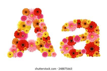 a, flower alphabet