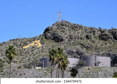 """A"" Mountain Arizona State University Tempe Arizona 3/16/19"