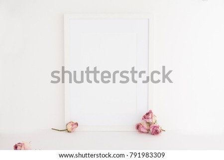A 4 A 3 Picture Frame On White Stock Photo Edit Now 791983309