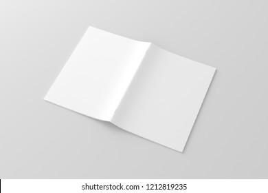 A4 / A5 Brochure Blank White