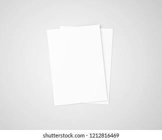A4 / A5 Flyer Blank White
