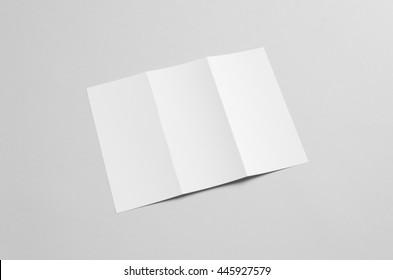 a4 tri fold brochure mock up