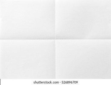 A4 White sheet of paper folded