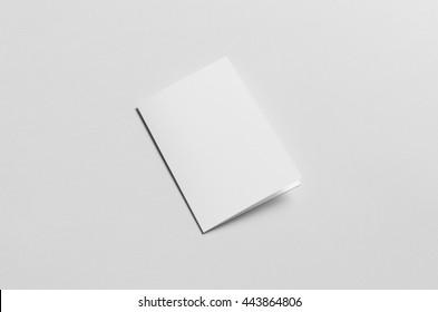 A6 Bi-Fold / Half-Fold Brochure Mock-Up - Front