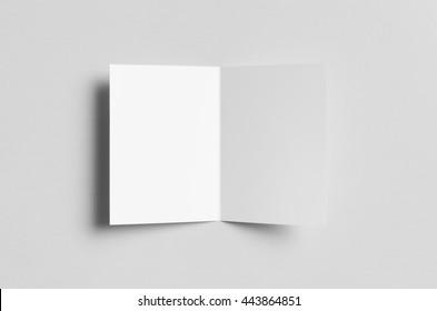 A6 Bi-Fold / Half-Fold Brochure Mock-Up