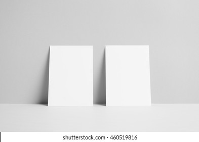 A6 Flyer / Postcard / Invitation Mock-Up - Wall Background