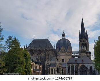 Aachen Cathedral in Aachen/ North Rhine-Westphalia/ Germany.  Aachener Dom in Aachen/ Nordrhein-Westfalen/ Deutschland.