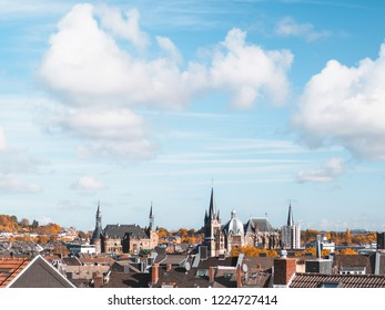 Aachen cathedral and town hall, Germany