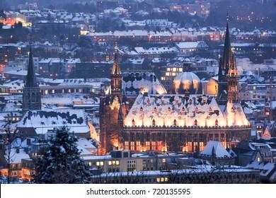 Aachen christmas winter. Aachen, Germany.