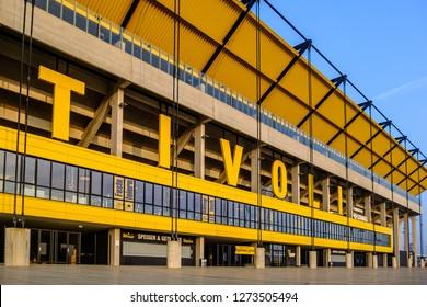 Aachen, Germany, 2.21.2018, Football Stadium Tivoli of Alemannia Aachen