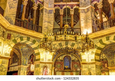 AACHEN, GERMANY - DEC 20: the Palatine Chapel, part of the Cathedral of Aachen and constructed by Charles the Great (Charlemagne) around 792, on December 20, 2012 in Aachen, Germany.