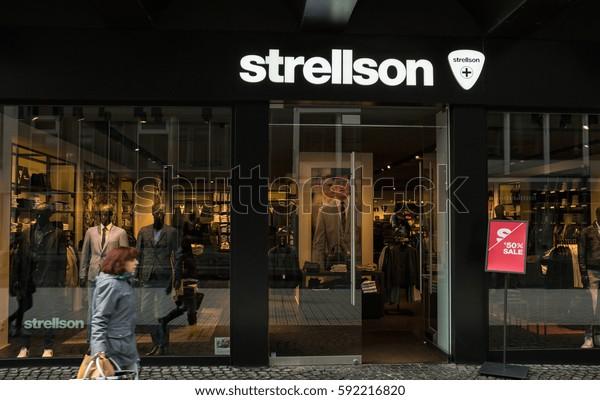 sports shoes 472eb 63438 Aachen Germany February 2017 Strellson Store Stock Photo ...