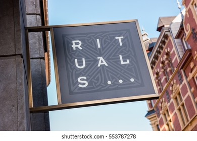 "AACHEN, GERMANY JANUARY, 2017: the logo of the brand ""Rituals"". Rituals is a company for Cosmetics."