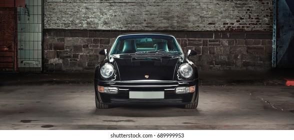 Aachen, Germany, June 14, 2013: Arranged Street shot of an historic Porsche 911.