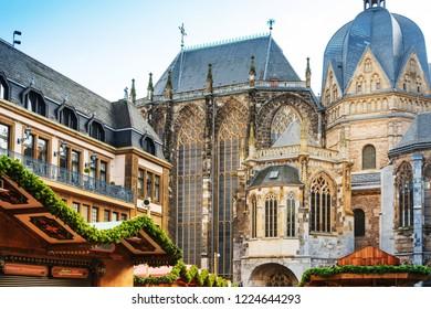 AACHEN, GERMANY - November 19, 2017: Katschhof in Aachen, Germany