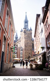 AACHEN, GERMANY - SEPTEMBER 4,2018 - In the streets of Aachen. Aachen is the westernmost city in Germany, located near the borders with Belgium and the Netherlands