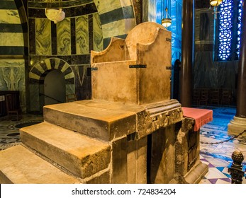 AACHEN, GERMANY - SEPTEMBER 5,2013: Throne of Charlemagne in Aachen Cathedral, Germany.