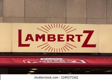 aachen, North Rhine-Westphalia/germany - 06 11 18: lambertz sign in aachen germany