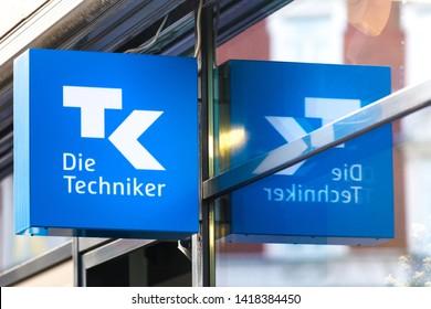 aachen, North Rhine-Westphalia/germany - 06 11 18: tk insurance sign in aachen germany