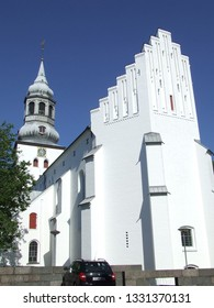 Aalborg, Denmark - July 16, 2011: The ancient Budolfi cathedral church for the lutheran diocese of Aalborg