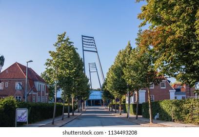 Aalborg / Denmark - July 2018: City stadium