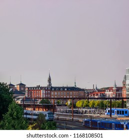 Aalborg / Denmark - July 2018: View of the city