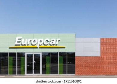 Aalborg, Denmark - May 9, 2016: Europcar agency. Europcar is a French car rental company founded in 1949 in Paris