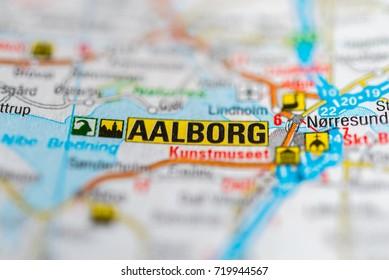 Aalborg on map.
