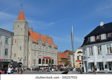 Aalborg town, Denmark, august, 6, 2015