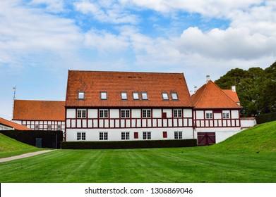Aalborghus manor from 15th century, in Aalborg, Denmark. 2018