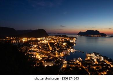 Aalesund by night