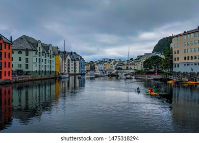 Aalesund city on the west coast of Norway.