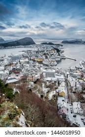 Aalesund town in Norway, Europe