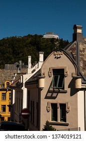 Aalesund/Norway-June 27, 2011: The city was rebuilt after a big city fire in 1904. Architects from all over europe were hired to rebuild the it. The city is one of Norway´s most beautilful.