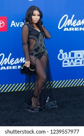 Aaliyah Jay attend the Soul Train Awards 2018 presented by BET, at the Orleans Arena on November 17th 2018 in Las Vegas, Nevada - USA
