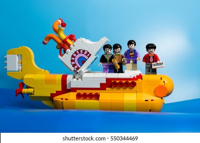 Aalter, Belgium, 29 december 2016: yellow submarine, the beatles