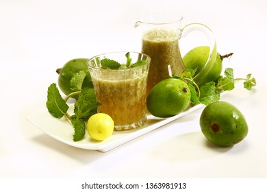 Aam Panna or Salted Green Mango Juice, Indian Summer Drink