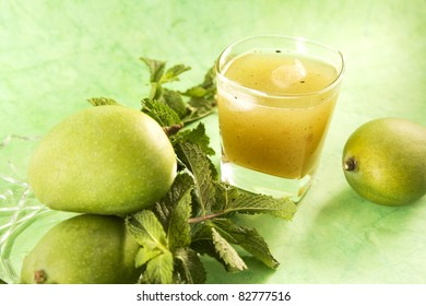 Aam Panna or Salted Green Mano Juice