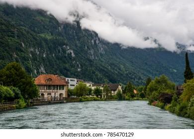 Aare river in Interlaken