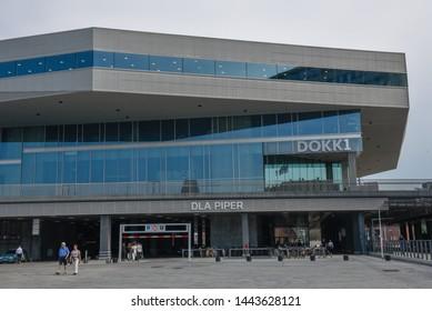 Aarhus, Denmark - 19 June 2019: modern building at Aarhus in Denmark